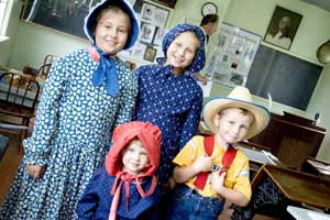 Family fun at the Discover Laura Center - photos courtesy of the Laura Ingalls Wilder Memorial Society, except as noted
