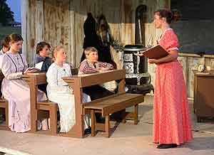 A scene from the Laura Ingalls Wilder Pageant held each summer