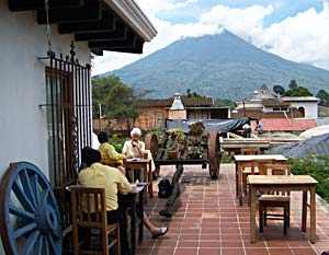 Individual Spanish lessons while overlooking the volcanic mountains