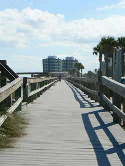 The boardwalk at Vero Beach, which was destroyed in hurricanes in 2004 and was rebuilt.