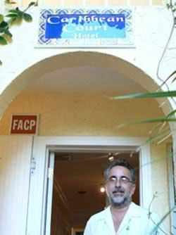 Boris Gonzalez, proprietor of the Caribbean Court a boutique hotel in Vero Beach, FL.