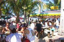 The sand bar at Capt. Hirams, Sebastian FL.