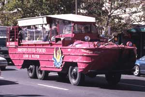Boston Duck Tours are taken on amphibious vehicles from World War II