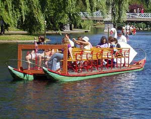 No visit to Boston in summer would be complete without a ride on the Swan Boats on the pond in the Boston Public Gardens.