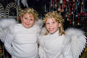These little angels keep everybody happy at Donaroma's greenhouse on Martha's Vineyard during the 'Christmas in Edgartown' festival. Photos by Cynthia Roderick