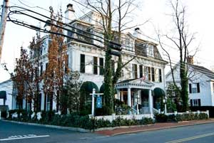 The Shiverick Inn is a grand old home, built in 1840 and boasting seven fireplaces, two in common areas.