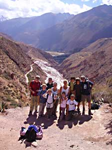 A group shot in the Sacred Valley of the Incas - photos by Jenny Hartshorne