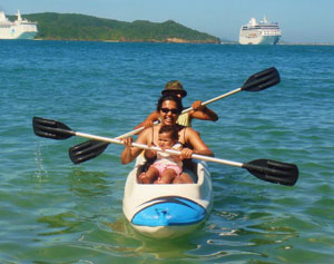 Kayaking with baby