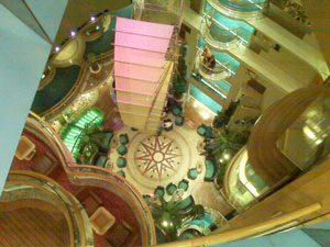 The centrum aboard the Radiance of the Seas