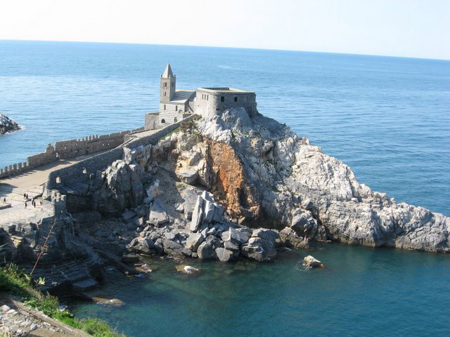 The Church of St. Pietro, Portovenere, Italy.