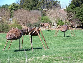 Giant ants walk the field at the Huntsville Botanical Garden