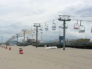 Chairlift at Seaside Heights, above the boardwalk.