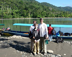 Boarding at Madre de Dios River