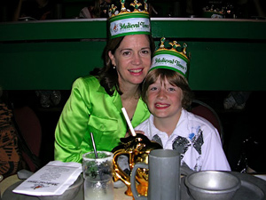 Dinner fit for a Knight at Medieval Times.