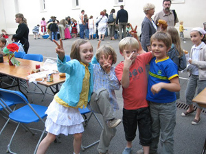 Schoolchildren in France. Photos by Alexandra Regan.