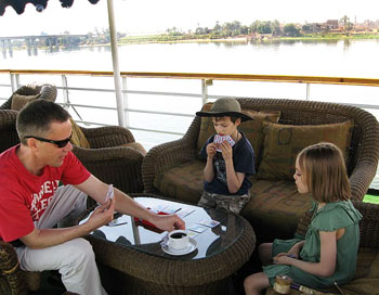 Family time during a Nile cruise