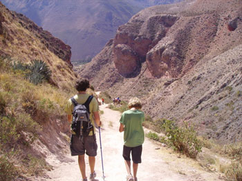Hiking in the Sacred Valley of the Inca in Peru. Photo by Jenny Gilbert