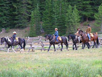 Trail ride at Brooks Lake Lodge
