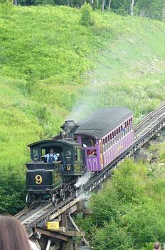 The Cog Railway on Mount Washington