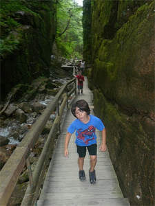 Five year old Nathan got a little whiny during the hike, but made it the whole 2 miles!