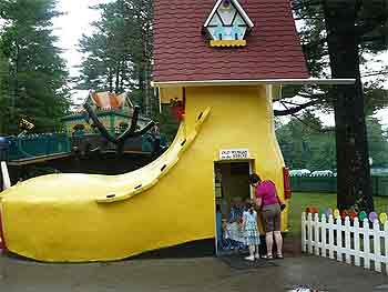 The old woman who lives in a shoe...at Storyland New Hampshire.