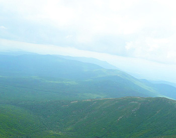 The view from the Mt. Washington Cog Railway