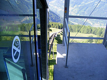 The hybrid child of elevator, train and chairlift technologies, funiculars are popular in Europe's steeper corners.