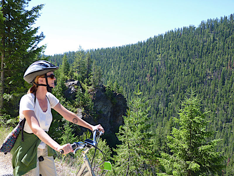 Biking the Hiawatha Trail on the Idaho-Montana border