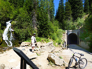 The entrance to the Taft Tunnel on the Hiawatha Trail
