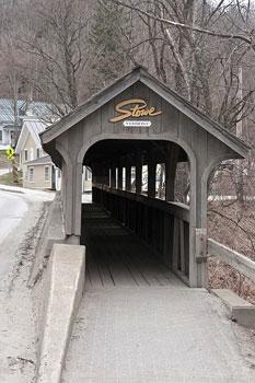 Covered bridge in Stowe Village