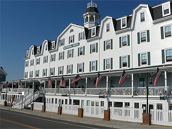 The National Hotel, on Block Island. Not for people who don't like a lot of noise!