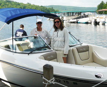 Cindy and xxx O'Leary of Experience Squam take you where you want to go on Squam Lake.
