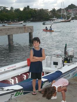 Boat to see the bioluminescent bay, Fajardo. PR