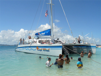A leisurely sail on the East Wind is an excellent idea in Puerto Rico. photos by Kate Hartshorne.