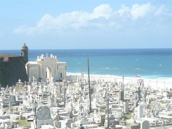 Old San Juan cemetery.