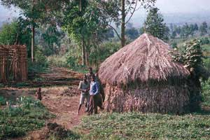 Family lodging in the Congo - photo by Jonathan Proud