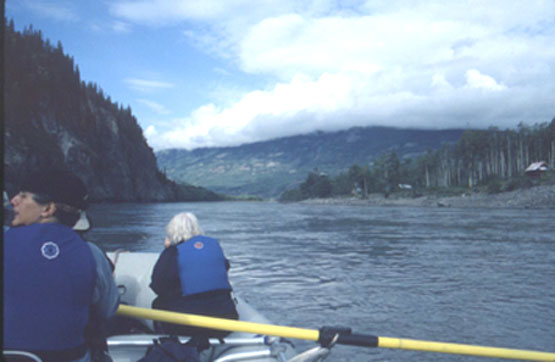Rafting down the Stikine River that rises in British Columbia and heads through southeast Alaska (Ed Readicker-Henderson photo)