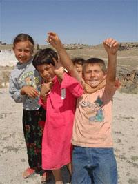 Children at Ilhara valley