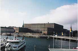 The Swedish royal palace can be seen across the harbor in Stockholm from the Grande Hotel. photos by David Yawn.