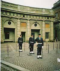 Palace guard in Stockholm.
