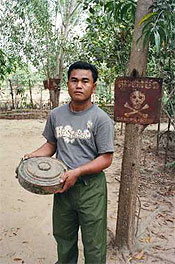Showing the wares at the Land Mine Museum in Siem Reap Cambodia. photos by Susan Miles.