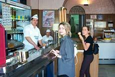 Happy customers enjoying their gelato. photos by Layne Mosler.