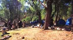 camping in Bakhtyari nomadic countryside.