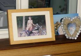 Living naked: even the family photos are naked in some nudist's households. Max Hartshorne photo.