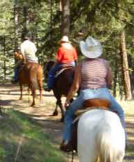 Trail riding at the K-Diamond-K Ranch in Republic