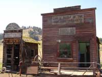 Original buildings from the old Molson Ghost Town