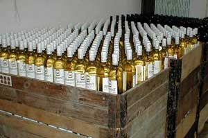 Bottles of Tokaj wine are crated for export. Photo courtesy of J&J Ostrožovi?