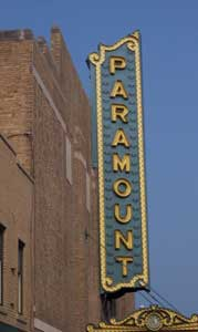 Marquee at the Paramount Arts Center - photo by Leffel
