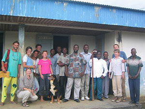 A warm welcome to Congo and Mbinda. The prefect (center, front) was welcoming and friendly.