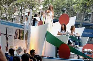 A float at Mendoza's Vendimia Festival